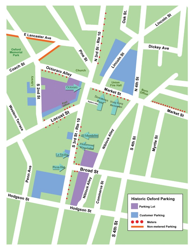 Parking Information | Downtown Oxford Dining on map of king of prussia pa, map of mahaffey pa, map of narberth pa, map of mount holly springs pa, map of pitman pa, map of mount union pa, map of washington pa, map of franklin township pa, map of lake heritage pa, map of union township pa, map of philadelphia pa, map of hooversville pa, map of media pa, map of mt joy pa, map of mt gretna pa, map of lewis run pa, map of central york pa, map of northumberland pa, map of orrstown pa, map of newry pa,